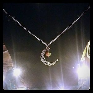 Last Day! Closet closing! Moon necklace